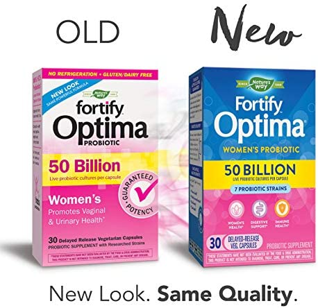 Fortify Optima Women's Daily Probiotic, 50 Billion Live Cultures, 7 Strains, 30 Capsules 2