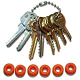 MSPowerstrange Professional Padlock 8 Key Set Original Offset, Residential, Commercial, Mail, (KW1, KW11, SC1, SC4, M1, K1,M10, K15, NA14, BO1) with Bump Rings, O-Ring
