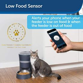 PetSafe-Smart-Feed-Automatic-Dog-and-Cat-Feeder-or-Stainless-Steel-Bowl-Accessory-Wi-Fi-Enabled-for-iPhone-and-Android-Smartphones-Smart-Pet-Food-Dispenser-with-Low-Food-Alerts-Works-with-Alexa