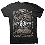 60th Birthday Gift Shirt - Classic 1959 Aged to Perfection - Black-001-XL