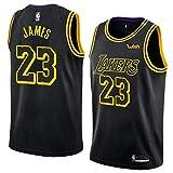 Mitchell & Ness Men's Los Angeles Lakers #23 Lebron James NBA Swingman Jersey (Black, Medium)