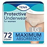 Tena Proskin Maximum Absorbency Incontinence Underwear for Women, Large, 72 Count