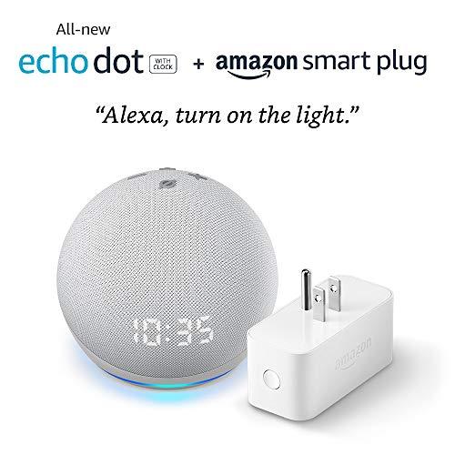 All-new-Echo-Dot-4th-Gen-with-clock-Amazon-Smart-Plug-Glacier-White