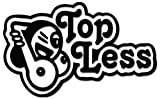 JDM Topless Sexy Tits Boobs Vinyl Decal Sticker For Vehicle Car Truck Window Bumper Wall Decor - [15 inch/38 cm Wide] - Gloss WHITE Color