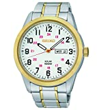 Seiko Men's SNE370 Analog Display Japanese Quartz Two Tone Watch
