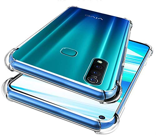 Prime Retail Bump Side Air Cushion Back Cover for Vivo Z1 Pro [Protective + Anti Shock Proof CASE], Dual Layer Transparent Ultra Clear Finish 4