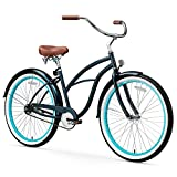 sixthreezero Women's 1-Speed 26-Inch Beach Cruiser Bicycle, Classic Dark Blue