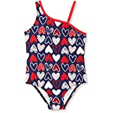 Ocean Pacific OP Toddler Girl American Sweetie Asymmetrical 1 Piece Swimsuit (3T)