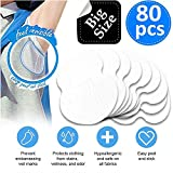 LARGE SIZE Underarm Sweat Pads - Disposable Absorbent Dress Shields Pure Antiperspirant Adhesive Underarm Pads, Comfortable, Sweat Free, Odor Blocker, Discreet, Perspiration Sweat Pad [80 Packs]