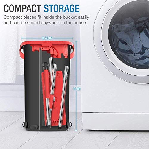 BlackRed-TETHYS-Flat-Floor-Mop-and-Bucket-Set-for-Professional-Home-Floor-Cleaning-System-with-Aluminium-Handle2-Washable-Microfiber-Pads-Perfect-Home-Kitchen-Cleaner-for-Hardwood-Laminate-Tiles-Vinyl