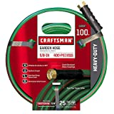 Craftsman CM-IFHD-3 Heavy Duty 5/8' x 100' Garden Hose plus Heavy Duty Metal Garden Hose Nozzle