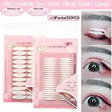 INS Hooded Droopy Eyelid Tapes Stickers, Natural Ultra Invisible Two-sided Sticky Double Eyelid Tapes, Medical-use Self-adhesive Fiber, Instant eye lift strips