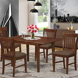 5 Pc Kitchen nook Dining set – Table with a 12in leaf and 4 Dining Chairs