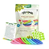 Green-Nature Mosquito Repellent Bands for Kids,Adults & Pets,100% Natural Deet-Free Waterproof Travel Insect Repellent Bands,Non-Toxic Safe Wristband 10 Pack with 24 Patches for Maximum Protection