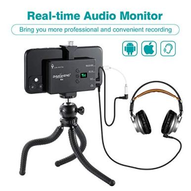 Wireless-Lavalier-Microphone-for-iPhone-Android-Smartphone-DSLR-Camera-Omni-Directional-Wireless-Lapel-Microphone-System-with-Built-in-Rechargeable-Battery-for-YouTube-Vlog-Video-Recording-ZHUOSHENG