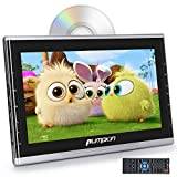 PUMPKIN 10.1' Ultra-Thin Car Headrest DVD Player with Suction Drive, Support 1080P Video, HDMI, AUX, Region Free, AV in/Out, USB/SD, Last Memory