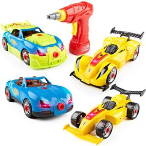 USA Toyz Kid Nitro Race Car Take Apart Toys – 2Pk Build A Car Kit, STEM Toys Building Set (52 Pcs) 51uInySCNJL