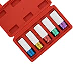 ABN 1/2in Impact Drive Lug Nut Socket 5-Piece Set - Non-Marring, Color-Coded, Thin-Walled Wheel Rim Protectors