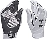 Under Armour Men's UA F4 Football Gloves Medium White/Navy
