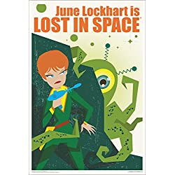June Lockhart Is Lost In Space by Juan Ortiz Art Print Poster 12x18