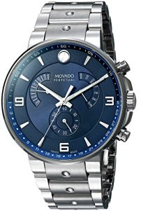 Movado Men's 0607129 SE Pilot Analog Display Swiss Quartz Silver Watch