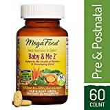 MegaFood - Baby & Me 2, Prenatal and Postnatal Supplement to Support Healthy Pregnancy, Development and Bones for Mother and Child, Herb-Free, Vegetarian, Gluten-Free, Non-GMO, 60 Tablets