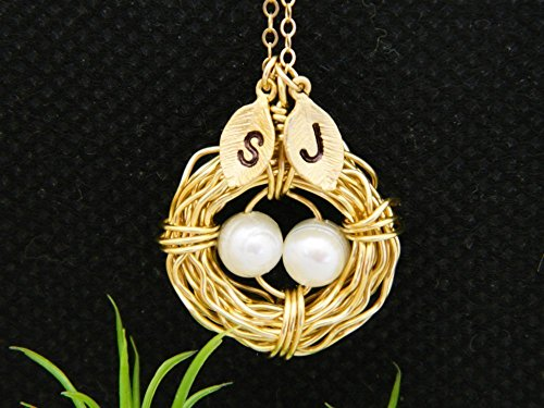 Personalized bird nest mother necklace mother day gift family personalized bird nest mother necklace aloadofball Choice Image