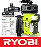 Ryobi 18 Volt Air Strike 5/8-2in Brad Nailer P320 + (2) Batteries P102 + Charger P118 (Renewed)