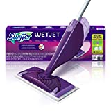 Swiffer WetJet Hardwood and Floor Spray Mop Cleaner Starter Kit, Includes: 1 Power Mop, 5 Pads, Cleaner Solution, Batteries