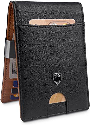 TRAVANDO Money Clip Wallet'RIO' Mens Wallet Front Pocket Wallet Slim Wallets RFID Blocking | Credit Card Holder | Minimalist Mini Bifold Gifts for Men