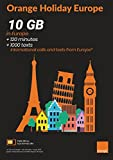 Orange Holiday Europe – 10GB Internet Data in 4G/LTE (20GB for SIMS Activated from April 4TH) + 120 mn + 1000 Texts in 30 Countries in Europe
