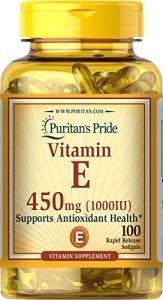 Puritan's Pride Vitamin E 1000 IU Soft Gels,100 count
