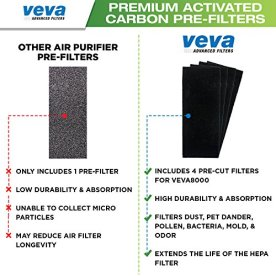 VEVA-8000-Elite-Pro-Series-Air-Purifier-HEPA-Filter-4-Premium-Activated-Carbon-Pre-Filters-Removes-Allergens-Smoke-Dust-Pet-Dander-Odor-Complete-Tower-Air-Cleaner-Home-Office-325-Sq-Ft