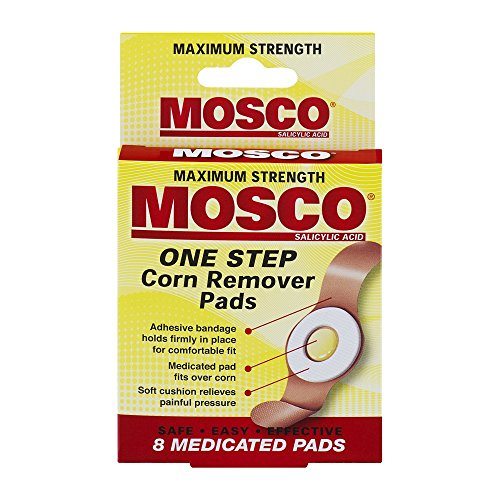 Mosco One Step Corn Remover Pads | Maximum Strength Salicylic Acid | 8 medicated pads | Pack of 6