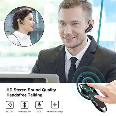New-bee-Main-Libre-Bluetooth-Oreillette-Casque-sans-Fil-Bluetooth-avec-Microphone-60-Jours-en-Veille-Casque-Mains-Libres-avec-Microphone-Casque-pour-iPhone-Samsung-HTC-LG-Sony-PC-Noir