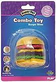 Super Pet Hamburger Small Animal Toy, Wood and Loofah