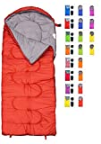REVALCAMP Sleeping Bag for Cold Weather - 4 Season Envelope Shape Bags by Great for Kids, Teens & Adults. Warm and Lightweight - Perfect for Hiking, Backpacking & Camping (Red - Envelope Left Zip)