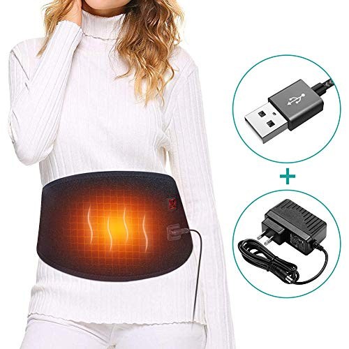 Waist Heating Pad, Lower Back Heat Therapy Belt Pain Relief for Cramps Abdominal Arthritic, Dysmenorrhea Abdominal Pain, Good Lumbar Warmer Wrap Suitable for Men and Women