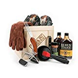 Man Crates Pit Master Barbecue Crate - The Ultimate BBQ Gift for Men - Includes Meat Claws, Wood Chips, Rubs, Sauces, Leather Gloves - Ships in A Sealed Wooden Crate with A Laser-Etched Crowbar