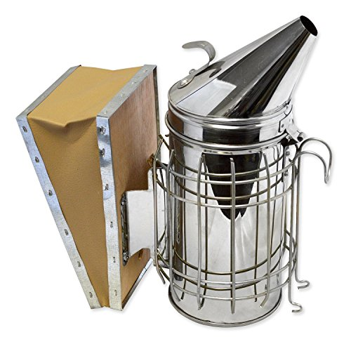 Aspectek Beehive Smoker (29X21.5cm) beekeeping equipment Stainless Steel with Heat Shield Protection
