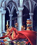 Priceless Treasure Dragon Sue Dawe Fantasy Kids Room Wall Decor Art Print Poster (16x20)
