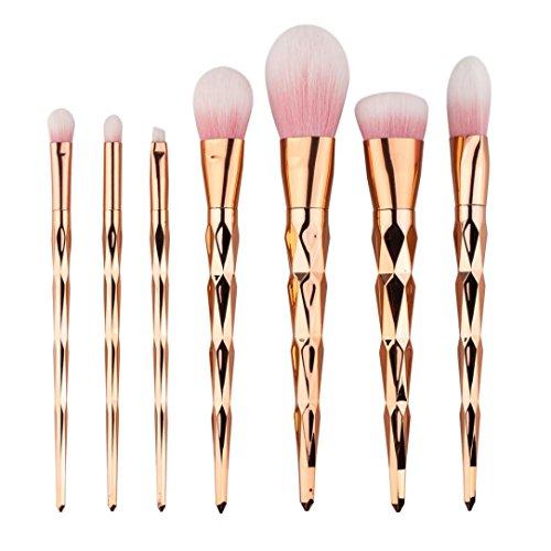 Gotd 7PCS Make Up Foundation Eyebrow Eyeliner Blush Cosmetic Concealer Brushes