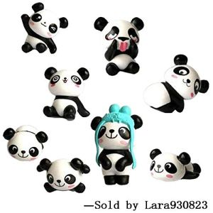 8 pcs (1 set) Cute Panda Toys Figurines Playset, Cake Decoration 51udbk8vjmL