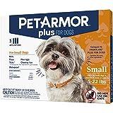 PETARMOR Plus Flea & Tick Squeeze-On Dog 4-22 lbs, Pack of 3, 3 CT