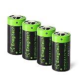 CR123A Rechargeable Lithium Batteries - Enegitech RCR123A Li-ion Battery 3.7V 750mAh 4 Pack for Arlo Camera(VMC3030/VMK3200/VMS3330/3430/3530) Flashlight Security System