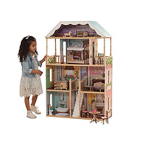 KidKraft 65956 Charlotte Dollhouse with Ez Kraft Assembly Dollhouses, Multicolor