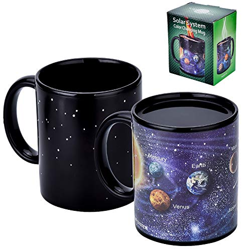 Antner Magic taza de café con sistema solar de cerámica sensible al calor, color cambiante, 325 ml