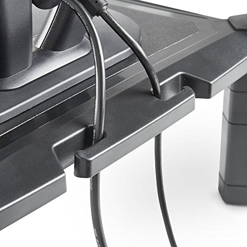 51uhABn3IkL - VonHaus Height Adjustable Monitor Stand for Desks - Screen Riser for Computers, Laptops & TVs - With Cable Management & Pen Storage