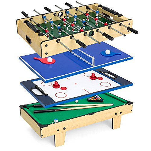 Best Choice Products 4-in-1 Multi Arcade Competition Game Table Set w/Pool Billiards, Air Hockey,...