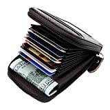 Prime Sale Day Deals Sale Offers 2019-Compact Leather Key Holder Wallet Keychain Key Ring Women Men Key Pouch Wallet with ID Window (Coffee)